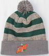 """Seattle Supersonics Mitchell & Ness NBA """"Speckled Crown"""" Cuffed Knit Hat w/ Pom"""