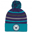 "Charlotte Hornets Mitchell & Ness NBA ""Quilted Crown"" Cuffed Knit Hat w/Pom"