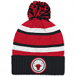 "Chicago Bulls Mitchell & Ness NBA ""Quilted Crown"" Cuffed Knit Hat w/Pom"