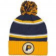 """Indiana Pacers Mitchell & Ness NBA """"Quilted Crown"""" Cuffed Knit Hat w/Pom"""