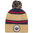 """New Orleans Pelicans Mitchell & Ness NBA """"Quilted Crown"""" Cuffed Knit Hat w/Pom"""