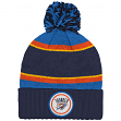 "Oklahoma City Thunder Mitchell & Ness NBA ""Quilted Crown"" Cuffed Knit Hat w/Pom"