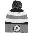 """San Antonio Spurs Mitchell & Ness NBA """"Quilted Crown"""" Cuffed Knit Hat w/Pom"""