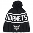 "Charlotte Hornets Mitchell & Ness NBA ""Reflective Patch"" Cuffed Knit Hat w/Pom"