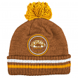 "Boston Bruins Mitchell & Ness NHL ""Big Man"" Cuffed Premium Pom Knit Hat"