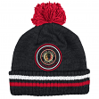 "Chicago Blackhawks Mitchell & Ness NHL ""Big Man"" Cuffed Premium Pom Knit Hat"
