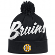 "Boston Bruins Mitchell & Ness NHL ""Double Up"" Cuffed Premium Pom Knit Hat"