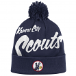 "Kansas City Scouts Mitchell & Ness NHL ""Double Up"" Cuffed Premium Pom Knit Hat"