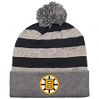 "Boston Bruins Mitchell & Ness NHL ""Speckled Crown"" Cuffed Knit Hat w/ Pom"
