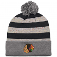 "Chicago Blackhawks Mitchell & Ness NHL ""Speckled Crown"" Cuffed Knit Hat w/ Pom"