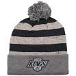 """Los Angeles Kings Mitchell & Ness NHL """"Speckled Crown"""" Cuffed Knit Hat w/ Pom"""