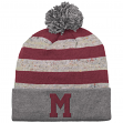 """Montreal Maroons Mitchell & Ness NHL """"Speckled Crown"""" Cuffed Knit Hat w/ Pom"""