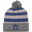 "Toronto Maple Leafs Mitchell & Ness NHL ""Speckled Crown"" Cuffed Knit Hat w/ Pom"