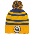 """Buffalo Sabres Mitchell & Ness NHL """"Quilted Crown"""" Cuffed Knit Hat w/Pom"""