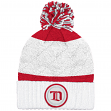 """Detroit Red Wings Mitchell & Ness NHL """"Quilted Crown"""" Cuffed Knit Hat w/Pom"""