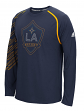 "Los Angeles Galaxy Adidas MLS ""Frequency"" Performance Long Sleeve Jersey Top"