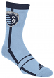 "Sporting Kansas City Adidas MLS ""Stripe & Logo"" Jacquard Men's Socks"
