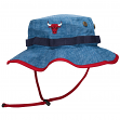 "Chicago Bulls Mitchell & Ness NBA ""Denim Boonie"" Bucket Hat"