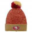 "San Francisco 49ers Youth NFL ""Basic"" Cuffed Knit Hat w/ Pom"