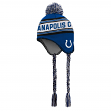 """Indianapolis Colts Youth NFL """"Striped Jacquard"""" Tassel Knit Hat w/ Pom"""