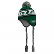 "New York Jets Youth NFL ""Striped Jacquard"" Tassel Knit Hat w/ Pom"