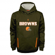 """Cleveland Browns Youth NFL """"Shadow"""" Pullover Hooded Sweatshirt"""