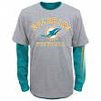 """Miami Dolphins Youth NFL """"Classic Fade"""" 3 in 1 T-Shirt Combo Set"""