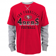 "San Francisco 49ers Youth NFL ""Arched Fade"" L/S Faux Layer Thermal Shirt"