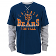 "Chicago Bears Youth NFL ""Arched Fade"" L/S Faux Layer Thermal Shirt"