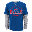 "Buffalo Bills Youth NFL ""Arched Fade"" L/S Faux Layer Thermal Shirt"