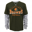 "Cleveland Browns Youth NFL ""Arched Fade"" L/S Faux Layer Thermal Shirt"