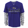 "Baltimore Ravens Youth NFL ""Arched Fade"" L/S Faux Layer Thermal Shirt"