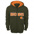 "Cleveland Browns Youth NFL ""Stated"" Full Zip Hooded Sweatshirt"