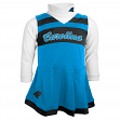 Carolina Panthers NFL Toddler Girls Cheer Jumper Dress Set w/ Turtleneck