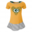 "Green Bay Packers NFL ""Fancie"" Infant Girls Drop Waist Dress"