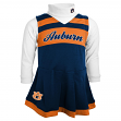 Auburn Tigers NCAA Toddler Girls Cheer Jumper Dress Set w/ Turtleneck