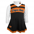 Oregon State Beavers NCAA Toddler Girls Cheer Jumper Dress Set w/ Turtleneck