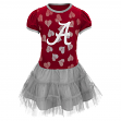 "Alabama Crimson Tide NCAA ""Love to Dance"" Toddler Girls Tutu Dress"