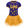 "LSU Tigers NCAA ""Love to Dance"" Toddler Girls Tutu Dress"