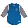 "Detroit Lions Mitchell & Ness NFL ""Rushing Play"" 3/4 Sleeve Henley Shirt"