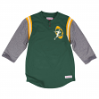 "Green Bay Packers Mitchell & Ness NFL ""Rushing Play"" 3/4 Sleeve Henley Shirt"
