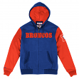 "Denver Broncos Mitchell & Ness NFL ""Skills"" Full Zip Hooded Premium Jacket"