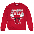 "Chicago Bulls Mitchell & Ness NBA ""Block & Blur"" Crew Sweatshirt - Red"