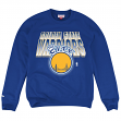 "Golden State Warriors Mitchell & Ness NBA ""Block & Blur"" Crew Sweatshirt - Blue"