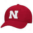 Nebraska Cornhuskers Adidas NCAA Performance Structured Adjustable Hat - Red
