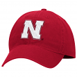 "Nebraska Cornhuskers Adidas NCAA ""Basic Logo"" Adjustable Slouch Hat - Red"