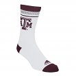 "Texas A&M Aggies Adidas NCAA ""Fan Gear"" Jacquard Stripe Men's Socks - White"