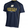 """Notre Dame Fighting Irish Under Armour NCAA """"Curl Route"""" Performance S/S Shirt"""