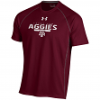 "Texas A&M Aggies Under Armour NCAA ""Curl Route"" Performance S/S Shirt"