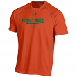 "Miami Hurricanes Under Armour NCAA ""Curl Route"" Performance S/S Shirt"